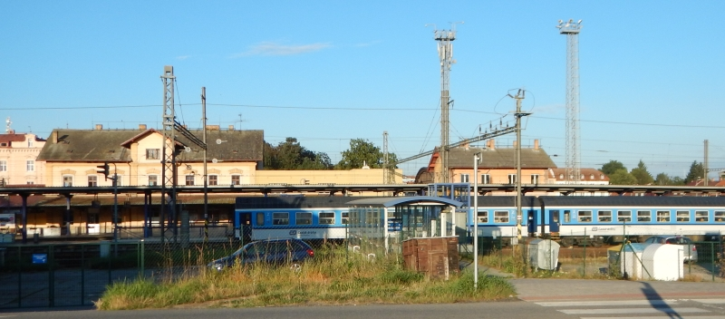 Nádraží Tábor - vlak už čeká