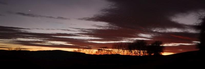 Balčín téměř hodinu po západu slunce