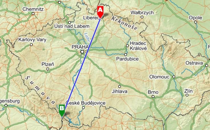 Ještěd - Třístoličník 233,1 km